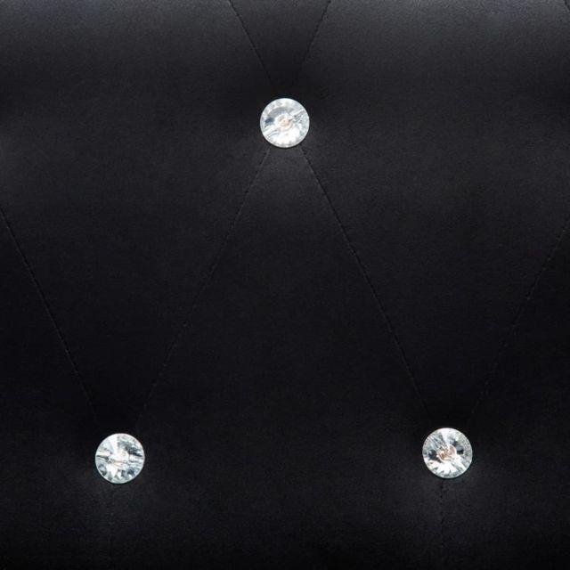Icaverne - Canapés ligne Canapés Chesterfield 2 pcs Revêtement en velours Noir