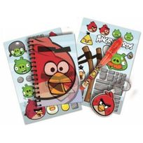 Angry Bird - s - Lot papeterie Stylo Magique - Carnet - Porte-clés - Stickers