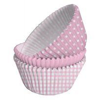 Creative - Caissettes à cupcakes roses et blanches x75