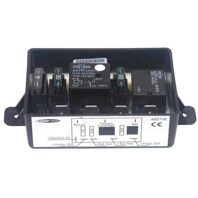 inovtech coupleur s parateur coupleur 2 batteries 3 sorties pas cher achat vente