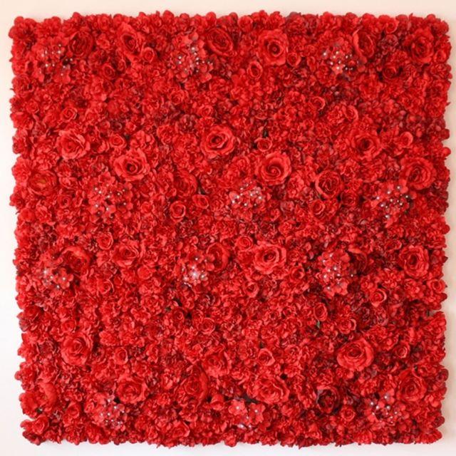 Wewoo Decoration Jardin Rose Rouge Fleur Pivoine Hortensia