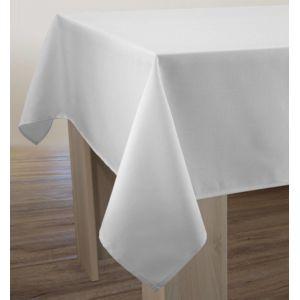 le linge de jules nappe unie anti taches blanche taille rectangle 150x200 cm pas cher. Black Bedroom Furniture Sets. Home Design Ideas