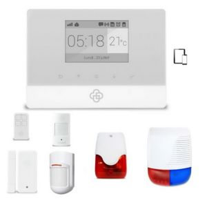 securitegooddeal kit alarme maison sans fil gsm appure pas cher achat vente alarme. Black Bedroom Furniture Sets. Home Design Ideas