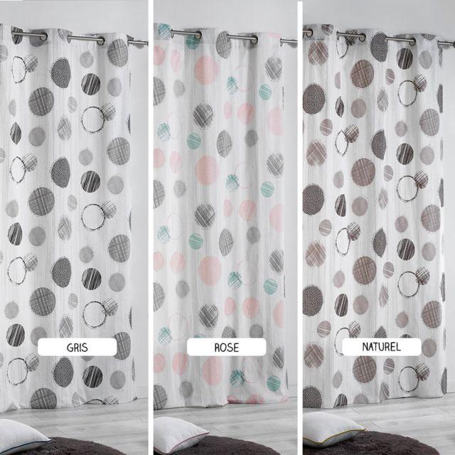 soldes sans marque rideau oeillets romy diff rents coloris couleurs dimension. Black Bedroom Furniture Sets. Home Design Ideas