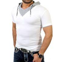 Rerock - Tee shirt fashion homme T-shirt Rr1242 blanc