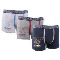 Navigare - Boxers Homme Lot de 3 Couleur - Blanc/Gris/Marine, Taille - L