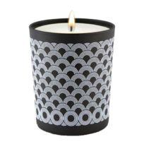 Ebougie - Bougie parfumée Cedre majestueux 190 g noir et blanc