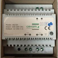 Cevam - Ar/5H - Alimentation sous coffret 5 Ah - 12V continu - Pour portier Audio