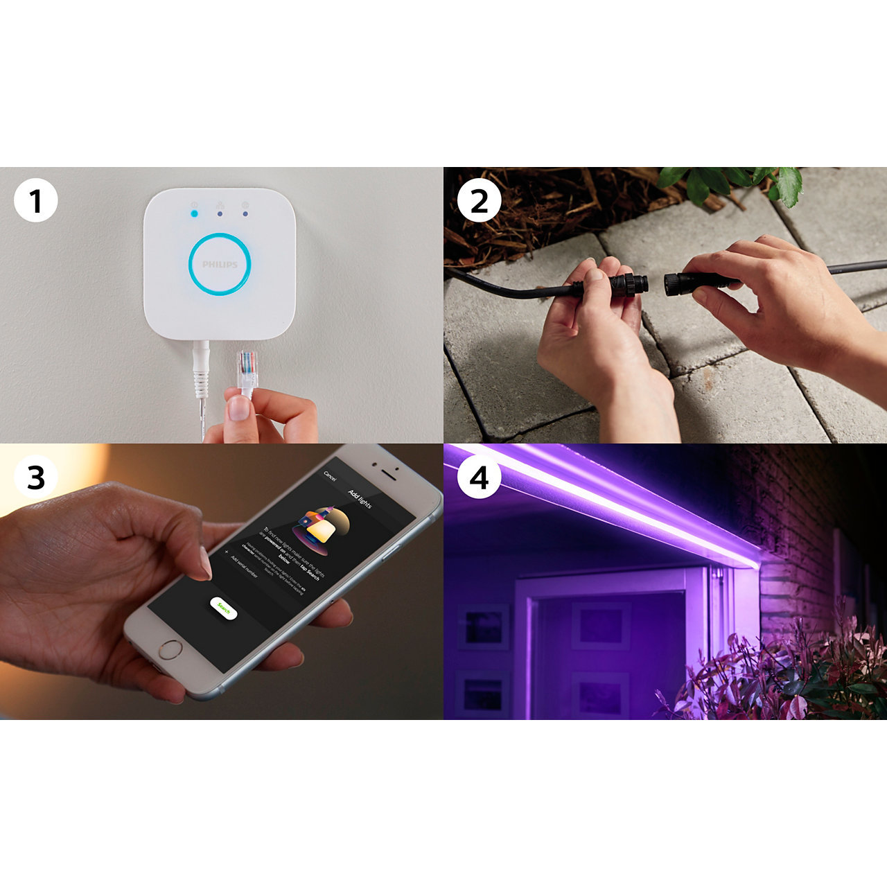 White ans Color Ambiance Outdoor Lightstrip 5m