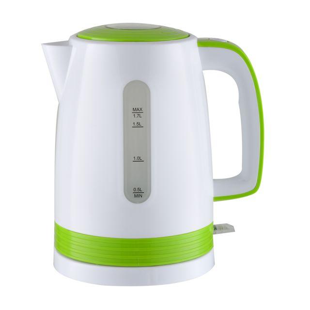 Triomph Bouilloire électrique blanche/vert 2200W - capacité 1.7L