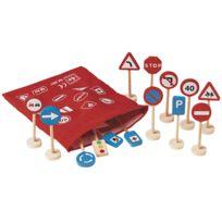 Diset - panneaux de signalisation en bois - lot de 16