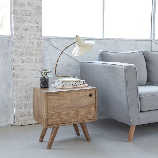 bois dessus bois dessous bout de canap en bois de mindy 1 porte pas cher achat vente. Black Bedroom Furniture Sets. Home Design Ideas