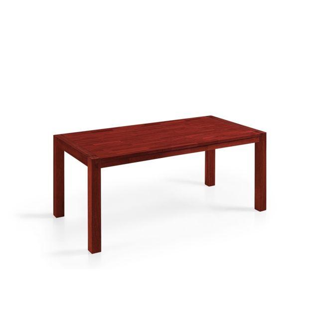 BELIANI Table de salle à manger en chêne brun 150 x 90 cm NATURA - marron