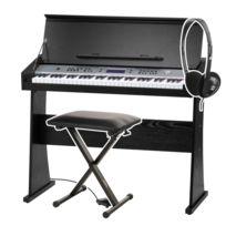 Funkey - Dp-61 Ii Piano numérique avec pupitre pour clavier en noir Set avec support et casque