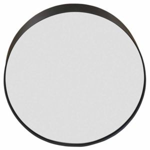 Zago miroir rond en m tal noir sia 0cm x 0cm pas cher achat vente miroirs for Miroir rond metal noir