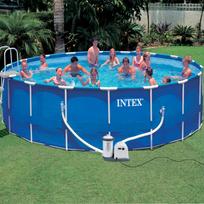 Rocambolesk - Superbe Jilong Kit piscine ronde avec châssis en acier 549 x 122 cm Neuf