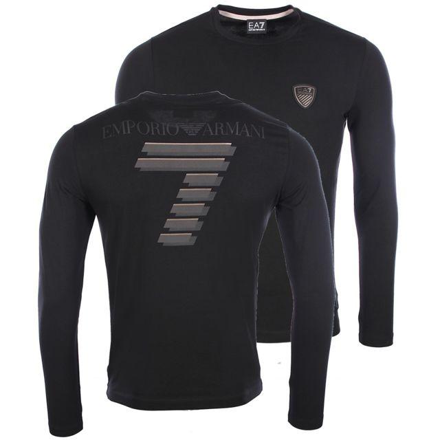 5ca39824ab52 Armani - Ea7 - Armani Soccer - T-shirt noir slim fit homme 6XPT83 Pj18Z