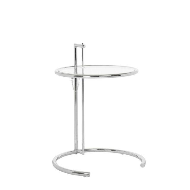 Novara Mobili Table en cristal Round Classic avec base en métal