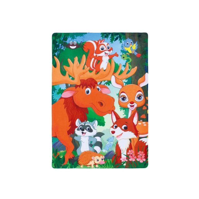deladeco tapis lavable en machine multicolore forest 100 150 pas cher achat vente tapis. Black Bedroom Furniture Sets. Home Design Ideas