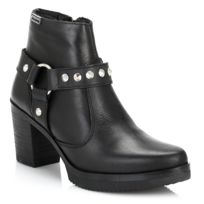 4ever young - Womens Black Beyonce Leather Boots-UK 6