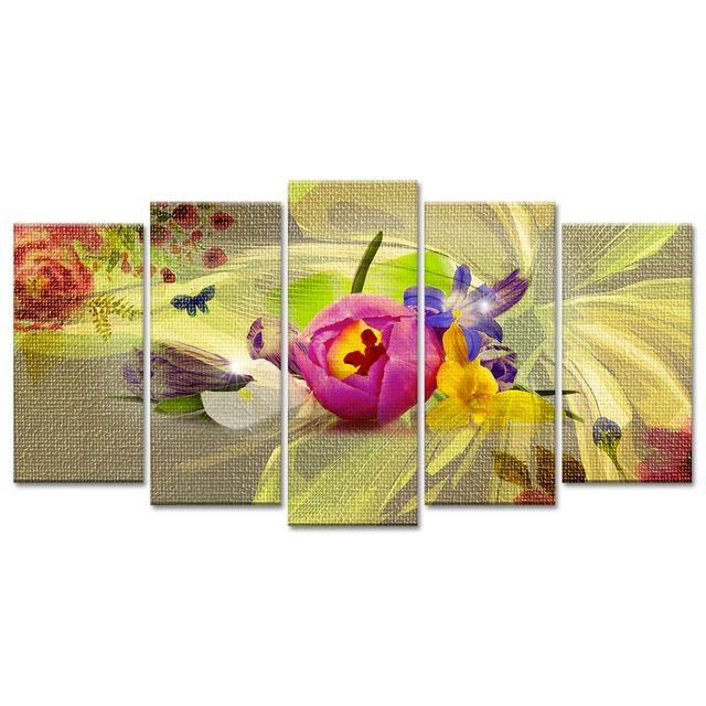 declina vente tableau fleur printannier sur toile tableau pas cher pas cher achat vente. Black Bedroom Furniture Sets. Home Design Ideas