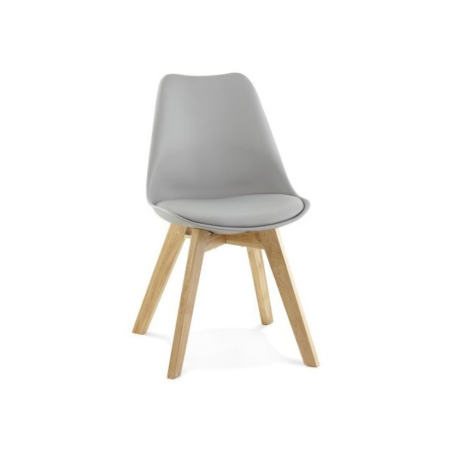 decodesign chaise scandinave dast grise - Chaises Scandinaves Grises