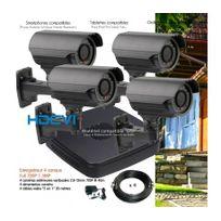 Dahua - Système video surveillance Hdcvi avec 4 caméras extérieures varifocales Capacité du disque dur - Disque dur de 500 Go