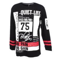 Rivaldi Black - Tee shirt manches longues Malebu black ml tee Noir 52200