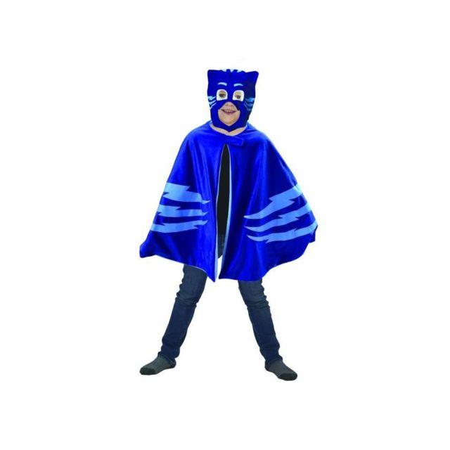 Fun House Caritan Pyjamasques deguisement cape-plaid + masque bleu yoyo