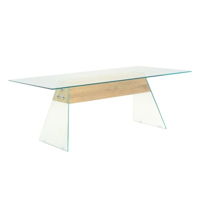 Vidaxl Table Basse Mdf et Verre Table d'Appoint Meuble de Salon Intérieur
