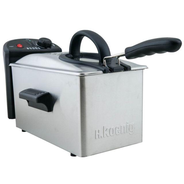 H.Koenig Friteuse DFX300 Une envie de frites à la fois croustillantes etmoelleuses. C'est possible avec la friteuseDFX300 H.Koenig.