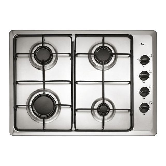Totalcadeau Plaque au gaz à 4 feux faite en acier inoxydable - Plaque de cuisson 60 cm
