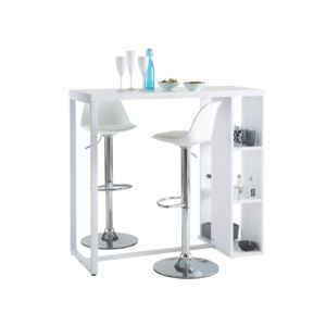 habitat et jardin meuble bar 3 niches toast blanc brillant 300cm x 73cm x 90cm pas cher. Black Bedroom Furniture Sets. Home Design Ideas