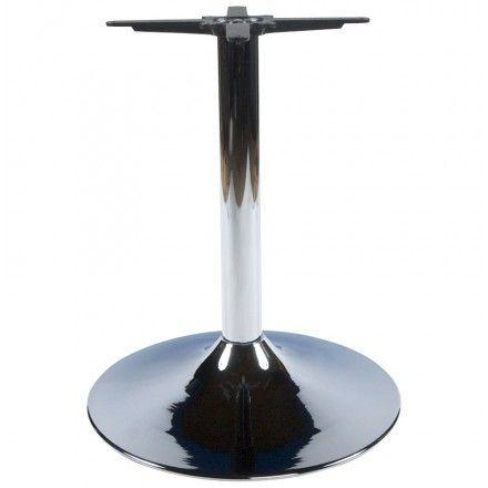 TECHNEB Pied de table WIND rond sans plateau en métal 60cmX60cmX75cm, chromé