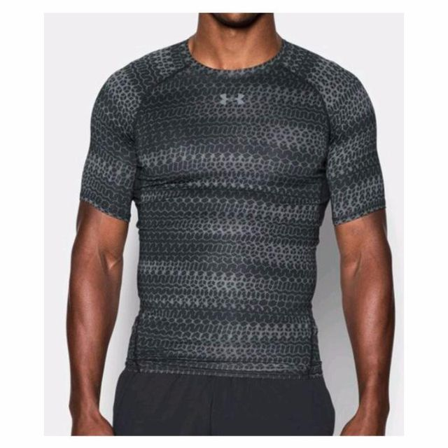 Under Armour - T-shirt Compression Mc - taille   L Noir - pas cher ... ba5c69dfac6