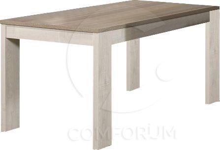 Table De Salle A Manger Contemporaine Extensible 160 210 Cm Coloris Truffe Et Chene Andes