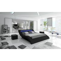 lit 160x200 bois massif achat lit 160x200 bois massif pas cher soldes rueducommerce. Black Bedroom Furniture Sets. Home Design Ideas