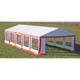 Vidaxl Toile de rechange pour tente réception 10 x 5 m en rouge et blanc