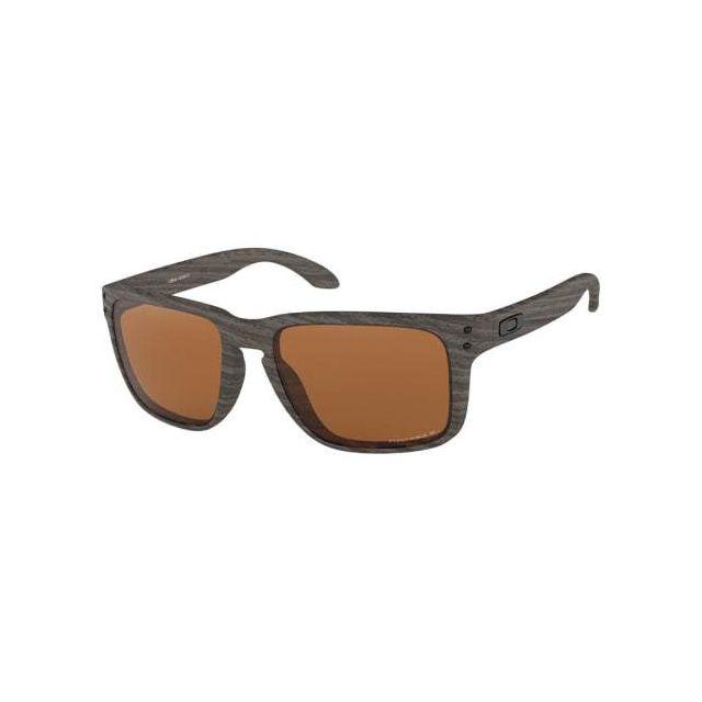 37d9062c4e152f Oakley - Lunettes Oakley Holbrook Xl Woodgrain Prizm Tungsten Polarized