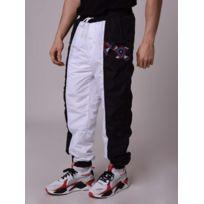 885ca02fca Project X - Pantalon de jogging empiècement motif Wax Homme Paris