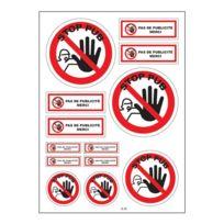 Mygoodprice - Planche A4 de stickers stop pub publicité autocollant adhésif - B38