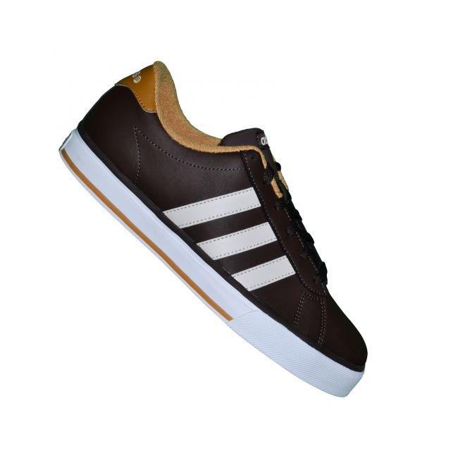 6709913d31c44 Adidas Neo - Basket - Homme - Se Daily Vulc F38543 - Marron foncé Beige - pas  cher Achat   Vente Baskets homme - RueDuCommerce