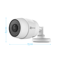 EZVIZ - C3 C - Caméra de Surveillance extérieur HD 720P 1280x720 IP WiFi - Grand angle de vue 2,8mm - Vision nocturne 30 mètres - Détection de mouvement - Haute qualité