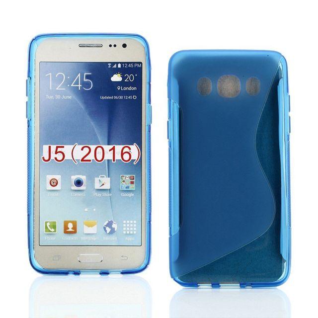 Lapinette - Coque Gel Vague S Pour Samsung Galaxy J5 2016 - Bleu