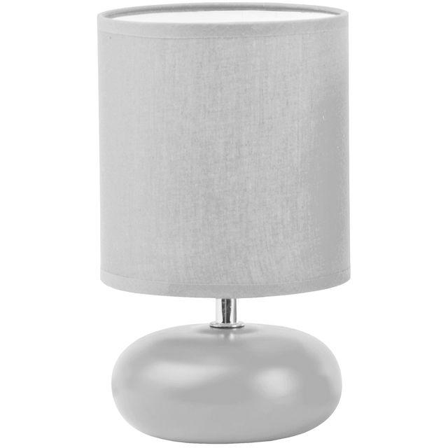 Coloris Design Boule Pied Gris Jour Promobo Lampe Plate Abat XuiOPkZ