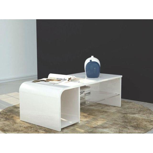 Inside 75 Table basse / meuble Tv S-time design blanc