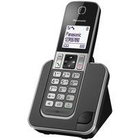 PANASONIC - Téléphone fixe Sans fil Sans répondeur TGD310FRG Solo Noir
