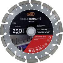 Scid - Disque diamanté ventillé béton métal Ø 230mm