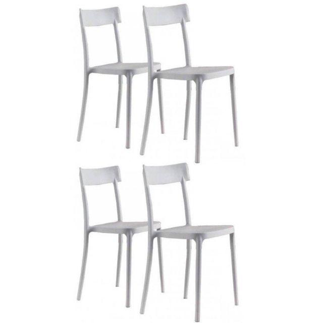 Inside 75 Lot de 4 chaises Corsocomo empilables