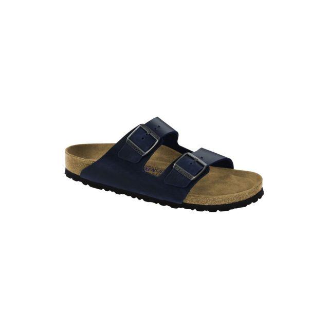 Birkenstock Sandale Homme Arizona Sfb Bleu pas cher